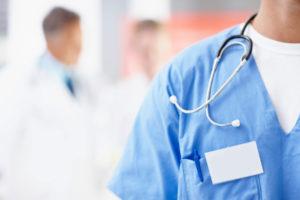 Докторский голубой халат