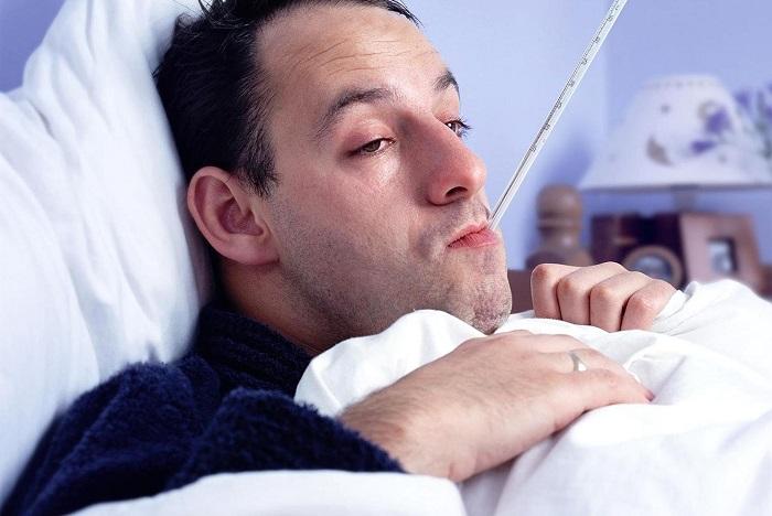 Больной с градусником во рту