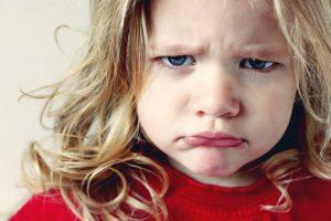 Грусть у ребенка