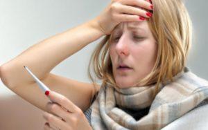 Температура боль в голове